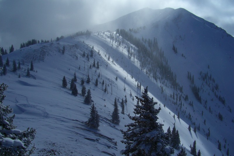 Ridge hike to the top of the Highland Bowl