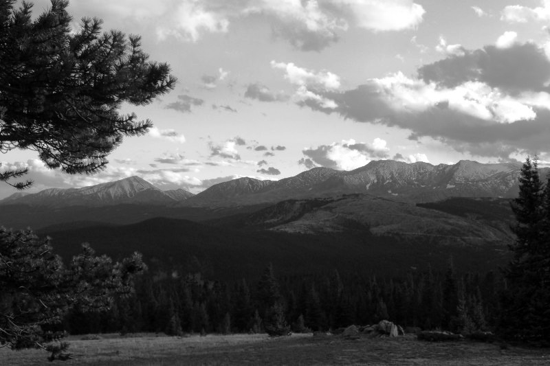 Mt. Elbert and Mt. Massive, from Uncle Bud's Hut