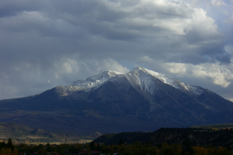 Early snow on Mount Sopris