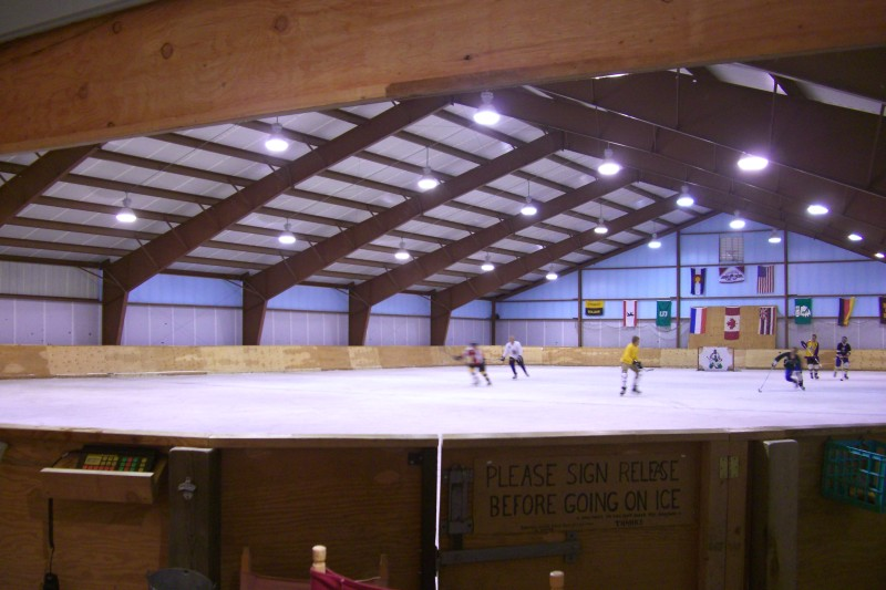 "Aspen's version of pond hockey, in ""the barn"" up in Missouri Heights"