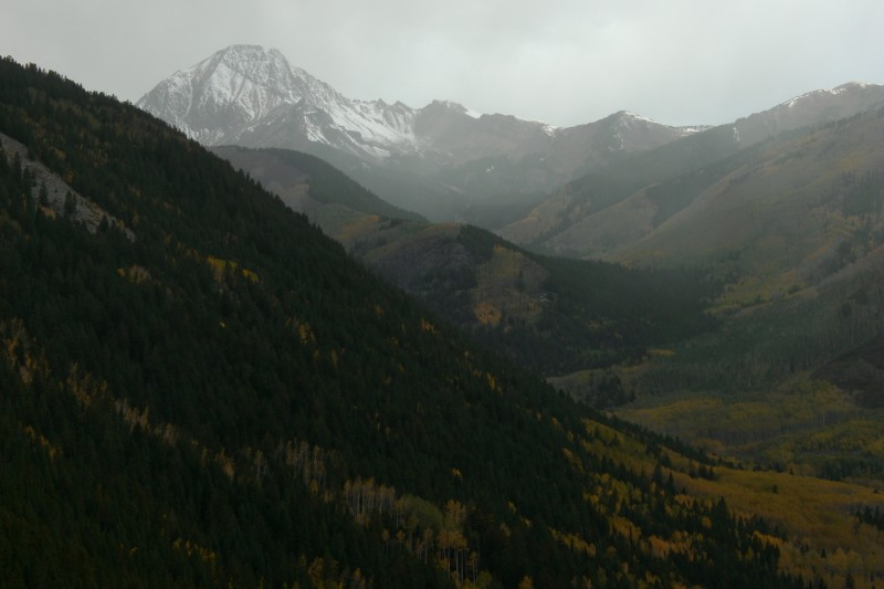 Snowmass Creek valley and Mt. Daly on a fall hike, while visiting Aspen in '07