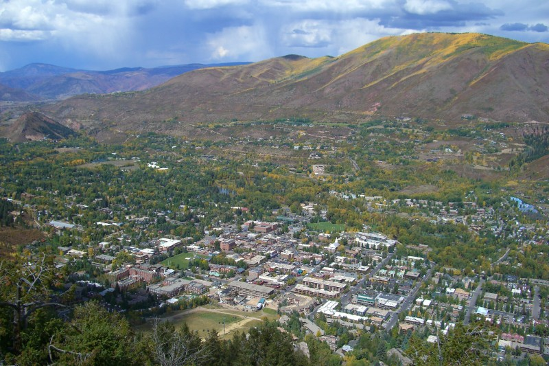 Looking down on the City of Aspen, from the top of the Ute Trail.